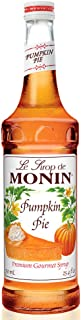 Monin - Pumpkin Pie Syrup, Pumpkin & Baked Pie Crust Flavor, Natural Flavors, Great for Hot, Iced, or Frozen Lattes, Frappes, Shakes, & Martinis, Vegan, Non-Gmo, Gluten-Free (750 ml)