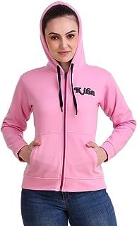KIBA RETAIL Women Winter Wear Hoodie Zipper Sweatshirt