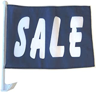 ALBATROS 12 in x 18 in Sale Blue White Car Window Vehicle Flag for Home and Parades, Official Party, All Weather Indoors Outdoors
