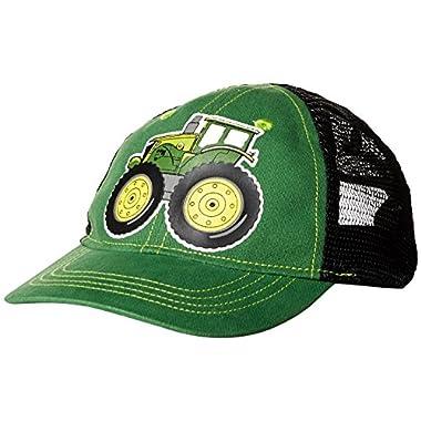 John Deere Little Baseball Cap, Green/Black, Big Boys