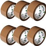Kite Packaging – 6 rollos por paquete 48 mm x 66 m cinta de embalaje marrón para paquetes y cajas. Este paquete de 6 rollos de cinta de embalaje marrón resistente proporciona un sellado fuerte