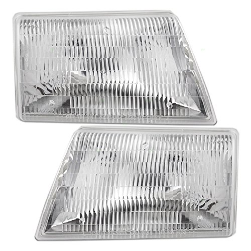 Headlights Headlamps Driver and Passenger Replacements for 98-00 Mazda Pickup Truck ZZP051040B ZZP051030B