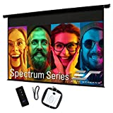 Elite Screens Spectrum Electric Motorized Projector Screen with Multi Aspect Ratio Function Max Size 84-inch Diag 16:9 to 80-inch Diag 2.35:1, Home Theater 8K/4K Ultra HD Ready Projection, ELECTRIC84H