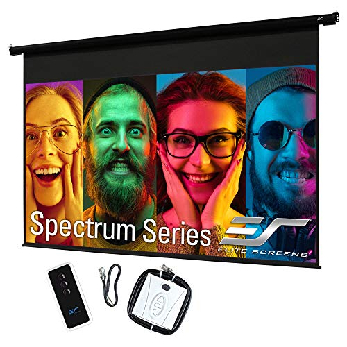 """Elite Screens 84"""" Spectrum Electric Motorized Projector Screen with Multi Aspect Ratio Function Diag 16:9 to 80-inch Diag 2.35:1, Home Theater 8K/4K Ultra HD Ready Projection"""
