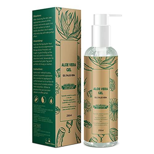 Aloe Vera Gel - 100% Natürlich Kamille Aloe Vera Gel - Beruhigende Pflegende Feuchtigkeitscreme Gesichtscreme After Sun - Naturkosmetik für Trockene Strapazierte Haut...