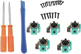 Bot/ón Anal/ógico 3D de 5 Piezas Joystick Stick Rocker Reemplazo de Sensor para Xbox 360 Funda Protectora para Joystick Thumbpad