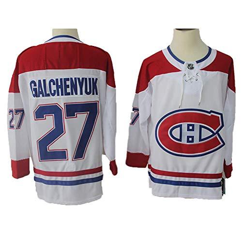 Yajun Alex Galchenyuk#27 Montreal Canadiens Eishockey Trikots Jersey NHL Herren Sweatshirts Atmungsaktiv T-Shirt Bekleidung,Red-White,2XL