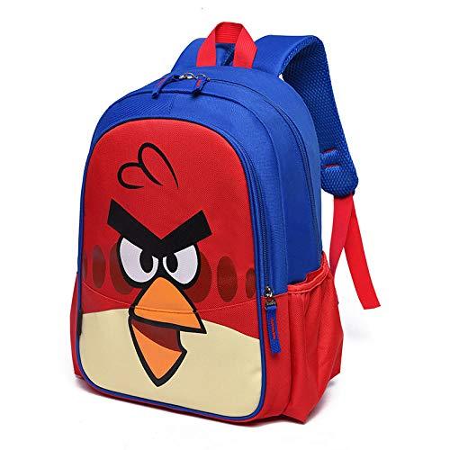 Venta al por Mayor de Estudiantes de Escuela Primaria Mochila Impermeable 2020 Nueva Caricatura Lindo niño niña 1-3 Grado Mochila Escolar-Angry Birds Blue Tuba