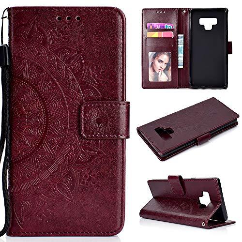 Cover per Samsung Galaxy Note 9 Flip, Custodia Libro Pelle PU e TPU Silicone LANVY con Funzione Supporto Chiusura Magnetica...