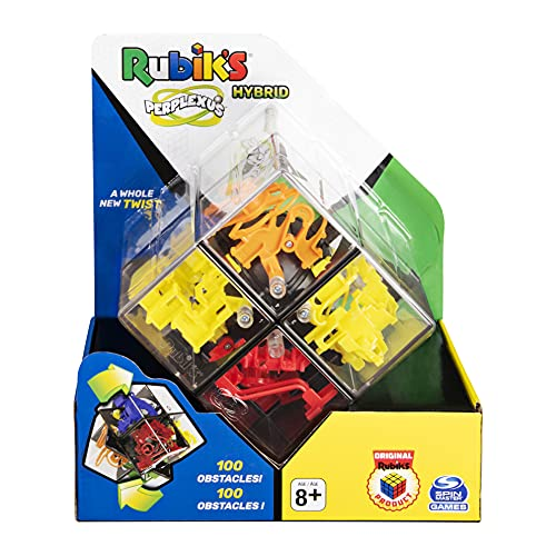Spin Master Games Rubik's Perplexus Hybrid 2 x 2, Challenging Puzzle Maze Skill Game, for Adults Kids Ages 8 and Up Rubik's Bola Abyrinth cubo Rubik, color gris (6058355)