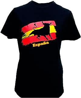 Camiseta Toro y Bandera de España Adulto