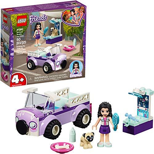 Friends Lego 4+ Tierärztin Emma mit mobiler Tierklinik 41360 Bauset, Neu 2019 (50 Teile)