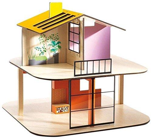 Djeco DJ07803 poppenhuis – huiskleur – leeg, multicolour