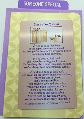 You`re So Special....Wallet Card (Sentimental Keepsake Wallet / Purse Card)