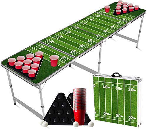 Official Beer Pong Set | Football | 1 Beer Pong Table + 2 Racks + 22 Red Cups + 4 Balls | Official Dimensions | Party Games | OriginalCup®