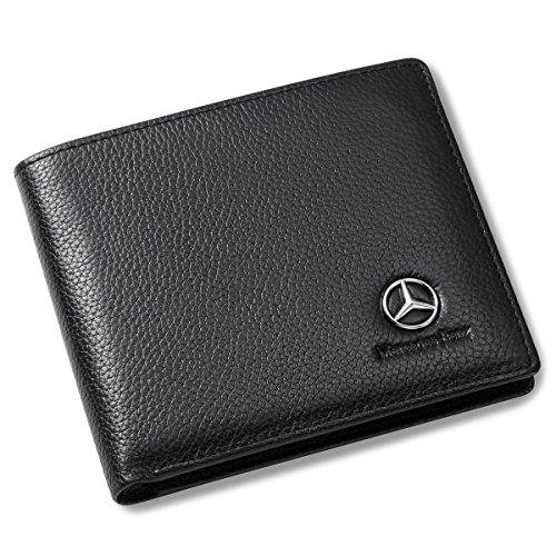Mercedes Benz Geldbörse mit 3 Kartenfächern und Ausweisfenster, Echtleder