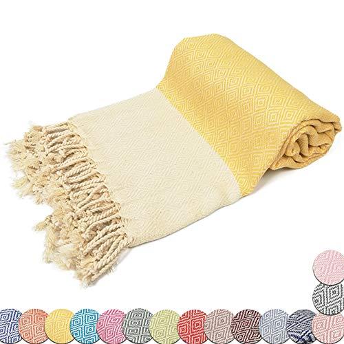 BULDAN Textiles Strandtuch Saunatuch Badetuch in XXL 100% Natur Baumwolle, 100x180cm...