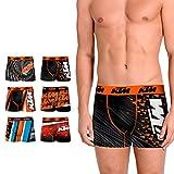 KTM Set de 6 Boxers KTM-microfibra-92% poliéster 8% Elastano Boxer, Mixture, XXL para Hombre