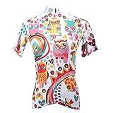 Greetuny Outdoor Fahrradtrikot Radfahren Jersey, Radtrikot Kurzarm T-Shirts Für Damen Zipper Atmungsaktiv Zyklus Tops REIT Trikots Mit 3 Taschen Laufen Rennrad Shirts,Rosa,XL