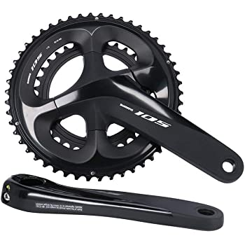 SHIMANO BIELAS 105 175MM R7000 11V 50//34 Negro Ciclismo Unisex Adulto