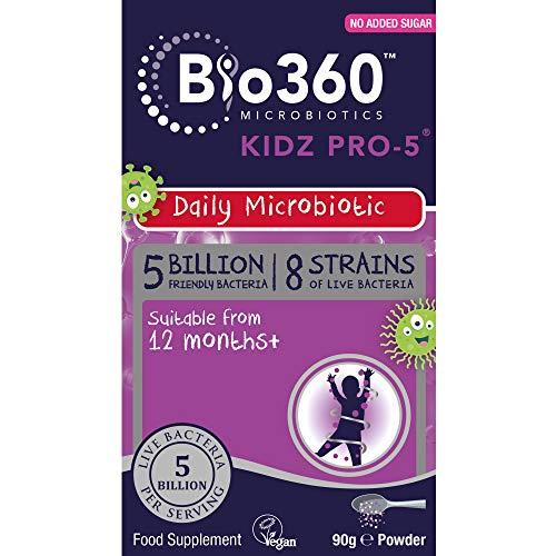 Bio360 Kidz Pro-5 (5 Billion Bacteria)|from Natures Aid|Children's Microbiotic|90g Powder