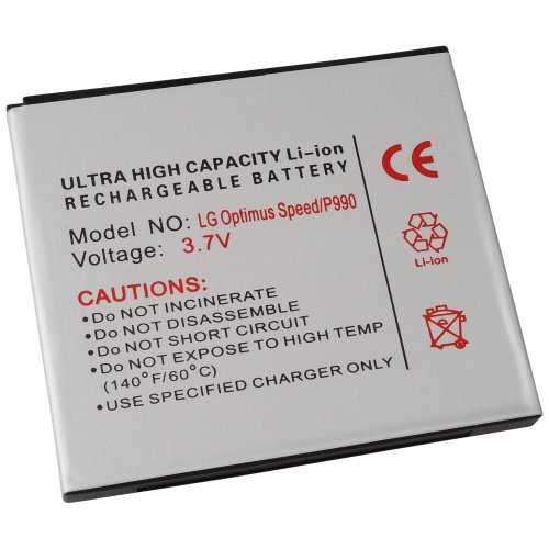 Power Batería de ion de litio para LG P990Optimus Speed, P920Optimus 3d, P999G2X Star