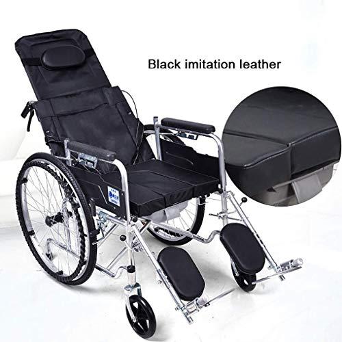 JN Rehabilitatie rolstoel Badkamer Rolstoelen Opvouwbare Commode Rolstoel Hoge Achterleuning, Badkamer Douchestoel, Bedkant Commode Toiletstoel, 3 posities Aangepast op de rugleuning, voor volwassenen,