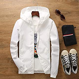 Thin Jacket Female Spring Autumn Large Size 7XL Overalls Summer Sunscreen Windbreaker Jacket Sunscreen Clothing Couple Models jacket (Color : White, Size : 4XL)