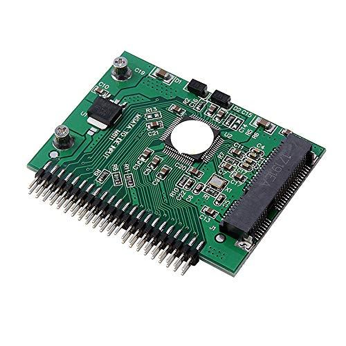 Fauge Adaptador Convertidor MSATa SSD una 44 Pines IDE como Adaptador Convertidor IDE HDD PCI e Express Sata de 2,5 Pulgadas para Ordenador PortáTil