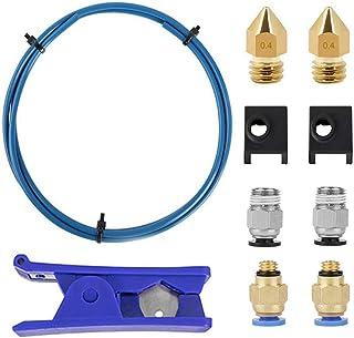 Iycorish 3D Printer Kit with Capricorn Premium XS Bowden Tubing,Teflon Tube Cutter, Pneumatic Fittings and MK8 Socks and N...