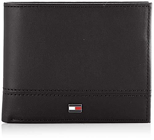 Tommy Hilfiger - Th Essential Mini Cc Wallet, Carteras Hombre, Negro (Black), 1x1x1 cm (W x H L)