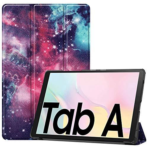 MAXJCN Funda de piel sintética ultra fina de alta calidad para teléfono inteligente de reposo/despertador, triple función atril compatible con Galaxy Tab A7 2020 SM-T500 (color 3)