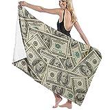 Toallas de baño, los Cien Billetes de dólares, súper Suave, Alta Absorbente, Manta de Toalla Grande para baño, Playa o Piscina, 52 'x32