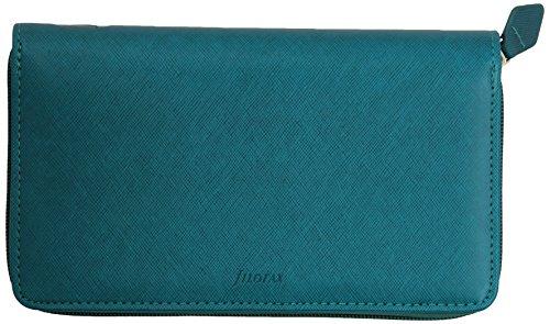 Filofax Personal Compact Zip Saffiano Zip aquamarine organiser