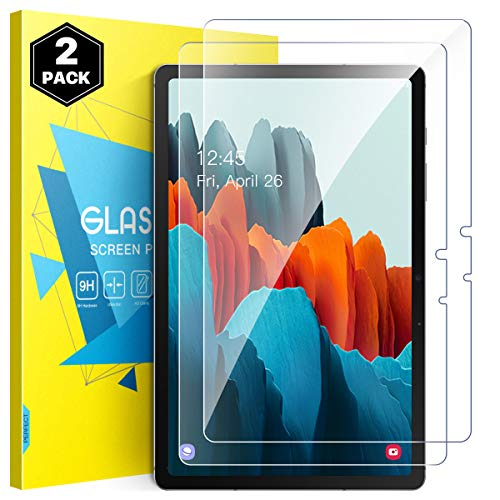 MoKo Screen Protector Compatible with Samsung Galaxy Tab S7 2020, [2-Pack] 9H Tempered Glass HD Fingerprint-Free Films Fit Samsung Galaxy Tab S7 11' 2020 SM-T870/SM-T875 Tablet Only - Clear