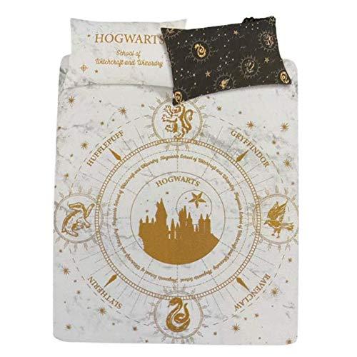 Primark Limited Juego de funda de edredón y funda de almohada Hogwarts School of Witchcraft and Wizardry Bedding (Doble)
