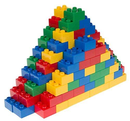 Strictly Briks Basic Builder Set #2 - Premium-Bausteine - kompatibel mit großen Bausteinen Aller führenden Marken - nur für Steine mit großen Noppen geeignet - 108 Stück - Rot, Gelb, Grün, Blau