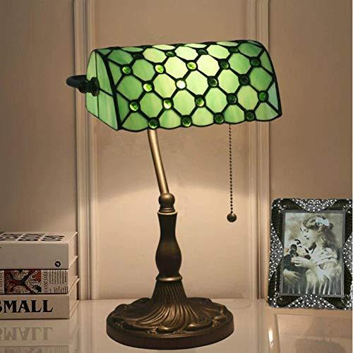 Tiffany Lampe Tischlampe Grünes Schlafzimmer Wohnzimmer Hotel Nachttischlampe