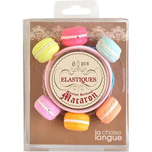 La Chaise Longue 35-1S-801 Elastiques à Cheveux Macarons Set de 6 Assortis Multicolore Elastique et Mousse polymère