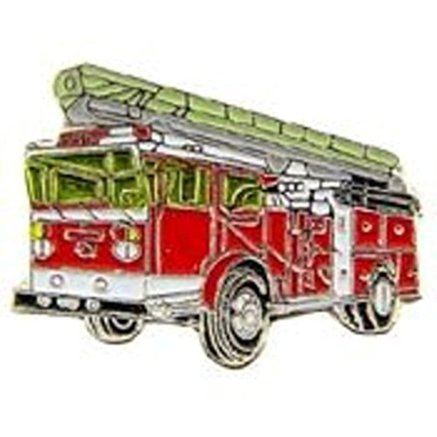 EagleEmblems P05365 PIN-VEH,FIRE,Truck,RED,W/Ladder (1'')