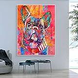 Cuadros Decoracion Salon ZXYFBH Precioso Animal de Dibujos Animados Lienzo Arte...