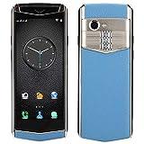 ciciglow Smartphone, M17 Red Completa 4G Mini Smart 1GB + 16GB Cuero de PU Teléfono móvil de Lujo Ta...