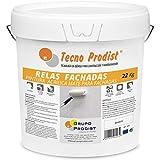 RELAS FACHADAS de Tecno Prodist - 22 Kg (BLANCO) Pintura para Fachadas Impermeabilizante al agua - Blanco Mate - A Rodillo o brocha - Pintura de Calidad - Fácil Aplicación