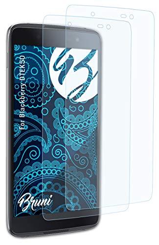Bruni Schutzfolie kompatibel mit BlackBerry DTEK50 Folie, glasklare Bildschirmschutzfolie (2X)
