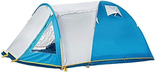 LILI-HW Tente De Trekking Légère à Profil Bas avec des Poteaux en Fibre De Verre 100% étanche for Accueillir Jusqu'à 3 à 4 Personnes