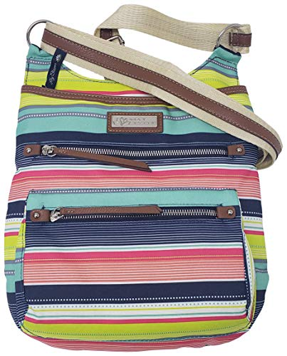 Lily Bloom Ivy Fashion Crossbody Bag with Multiple Pockets… Multicoloured Size: Medium