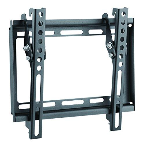 LogiLink BP0035 42' Negro, Acero inoxidable - Soporte de pared para pantalla plana (35 kg, 58,4 cm (23'), 106,7 cm (42'), 50 x 50 mm, 200 x 200 mm, Negro, Acero inoxidable)