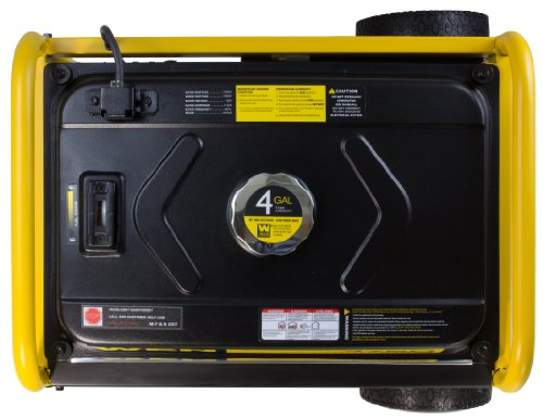 WEN 56475 4750-Watt Portable Generator with Electric Start and Wheel Kit, CARB Compliant