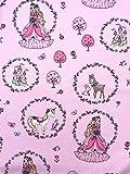 Baumwollstoff Kinderstoff Prinzessin rosa Breite 150cm ab