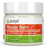 Puriya Tea Tree Oil Balm, Apply to Feet, Between Toes, Groin, Fast-Acting Relief for Itchy, Burning, Stinging...